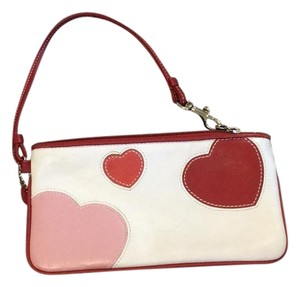 Coach Wristlet in Red/Pink/Cream