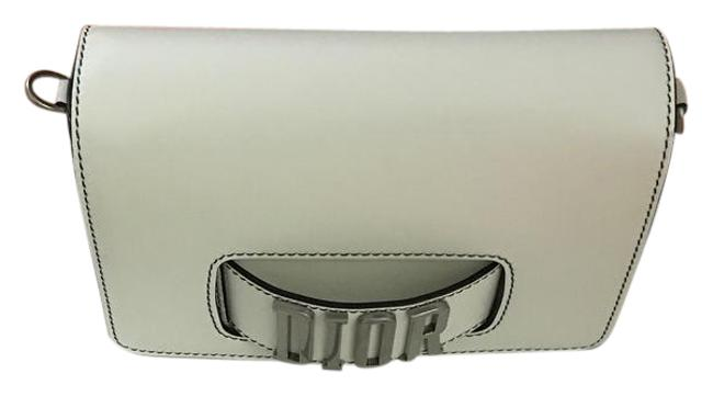 Item - J'adior White with Silver Hardware Leather Cross Body Bag