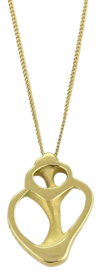 d33a6faaa Tiffany & Co. Angela Cummings 18k Yellow Gold Cutout Shell Pendant & Chain  Image 0 ...