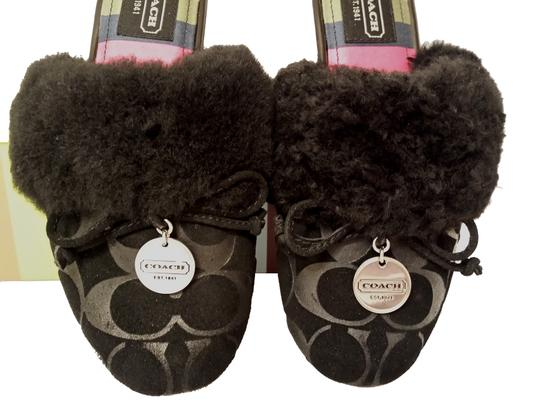 Coach House Slippers House Carra New In Box Size 5 Suede Black Flats