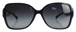 Chanel Black CC Oversized Butterfly Sunglasses