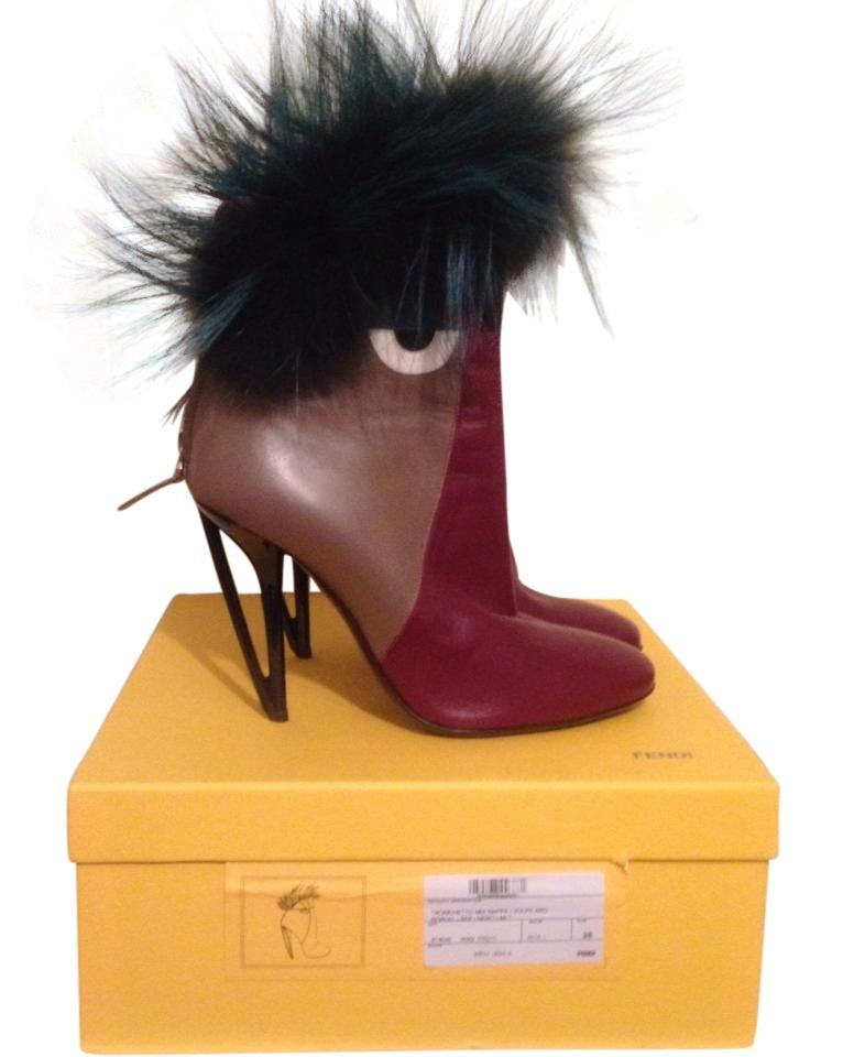 Women's Fendi Bordeaux/Multi-tone Monster Monster Bordeaux/Multi-tone Boots/Booties Queensland edf37b
