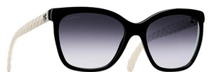 Chanel 5288 Q Butterfly Cat eye CC Logo Quilted Goatskin Leather Oversized