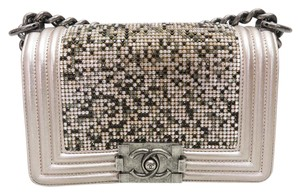 Chanel Crystal Small Boy Shoulder Bag