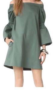 Tibi short dress Olive green on Tradesy