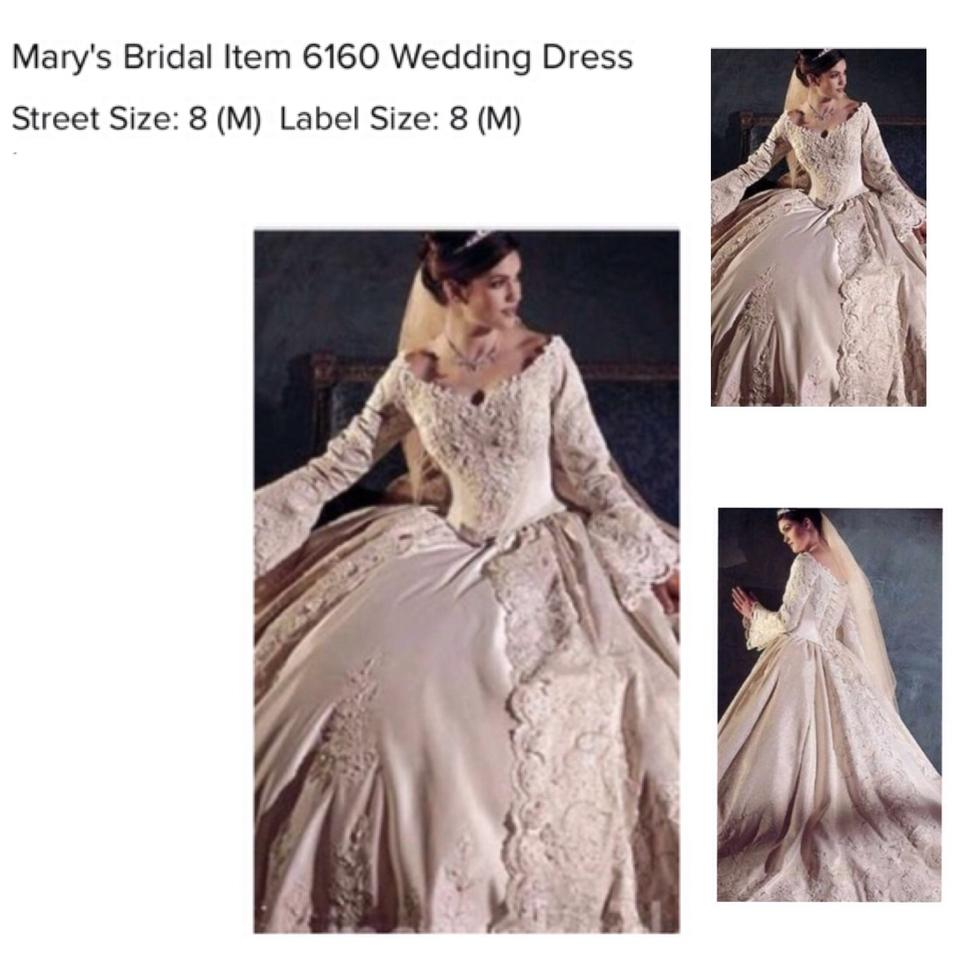 Mary's Bridal Off White And Gold 6160 Victorian Style Renaissance Gown Formal Wedding Dress Size 8: Authentic Renaissance Wedding Dresses At Websimilar.org