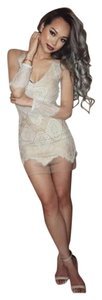 Luxxel short dress nude lace on Tradesy