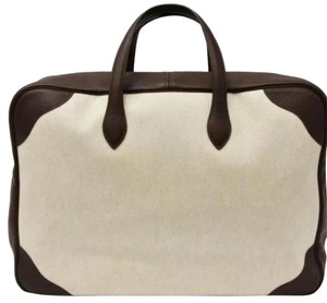 Hermès Luggage Suitcase Carryon Cream and Brown Travel Bag