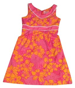 Lilly Pulitzer short dress pink and orange Vintage on Tradesy