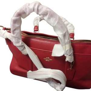 Coach Red Morgan Satchel in Pebble Leathe - F35185