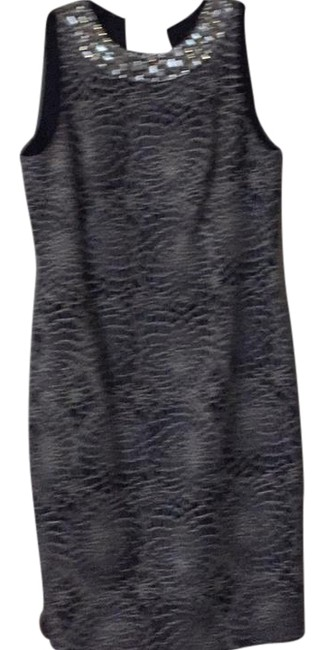 Item - Navy and Silver Elegant Mid-length Cocktail Dress Size 10 (M)