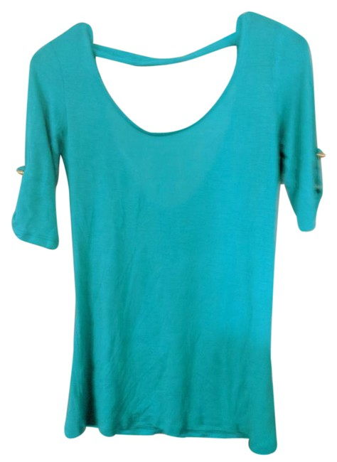Preload https://img-static.tradesy.com/item/21934341/charlotte-russe-blue-green-tee-shirt-size-8-m-0-1-650-650.jpg