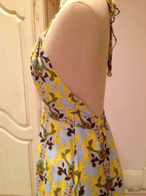 Soft blue, yellow, multi Maxi Dress by T-Bags Los Angeles