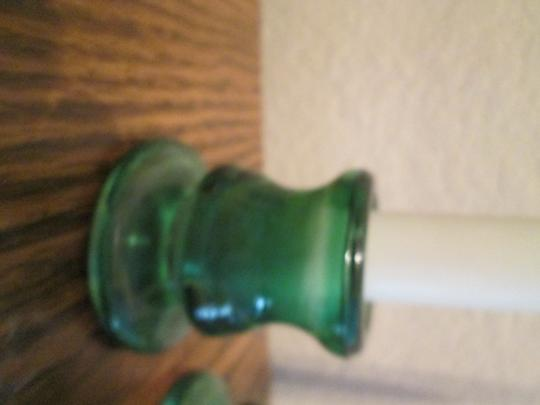 Wedding Candle sticks Brand new Candles and Candle stick holder. White & Green color Image 3