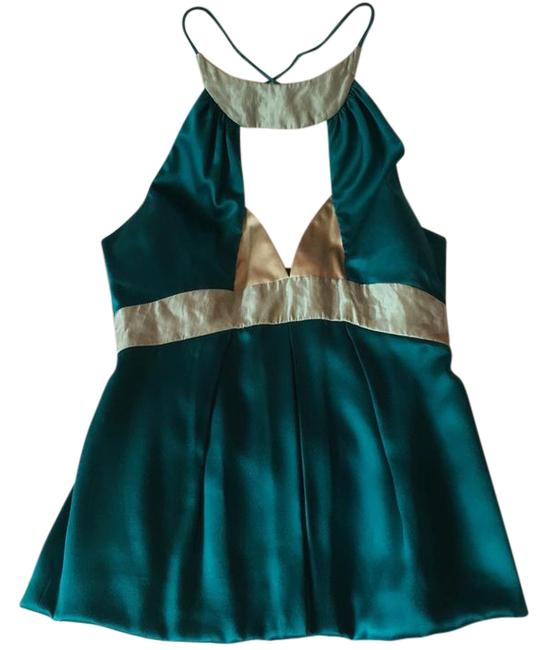 Preload https://img-static.tradesy.com/item/21934638/nicole-miller-turquoise-teal-silk-material-night-out-top-size-4-s-0-1-650-650.jpg