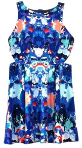 Nicole Miller short dress Blue Multicolor Sleeveless Cutout on Tradesy