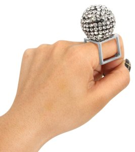 JewelryMakeoverParty BOLD & GLAMOROUS BALL STATEMENT RING W/RHINESTONES