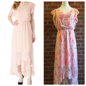 cream pink Maxi Dress by Shelby & Palmer