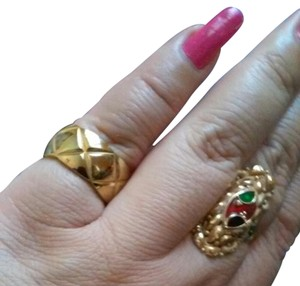 Chanel Chanel ring quilted gold plated 18k