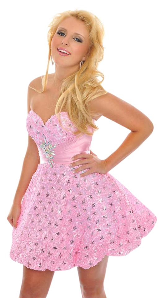 Precious Pink 21446/La Femme Short Formal Dress Size 0 (XS) - Tradesy