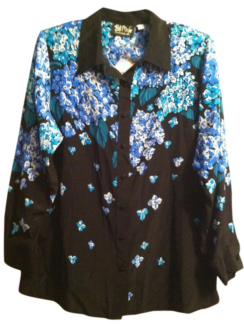 Preload https://item5.tradesy.com/images/bob-mackie-black-blue-green-floral-print-with-bead-work-wearable-art-button-down-top-size-14-l-2193514-0-0.jpg?width=400&height=650