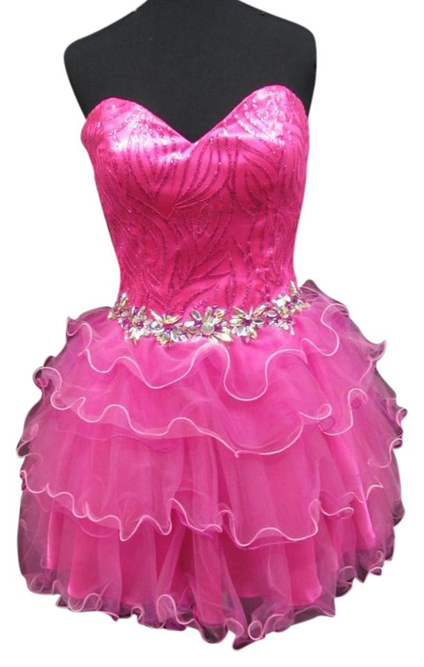 1685b57457cf Party Time Formals Fuchsia 6770/Party Short Formal Dress Size 6 (S ...