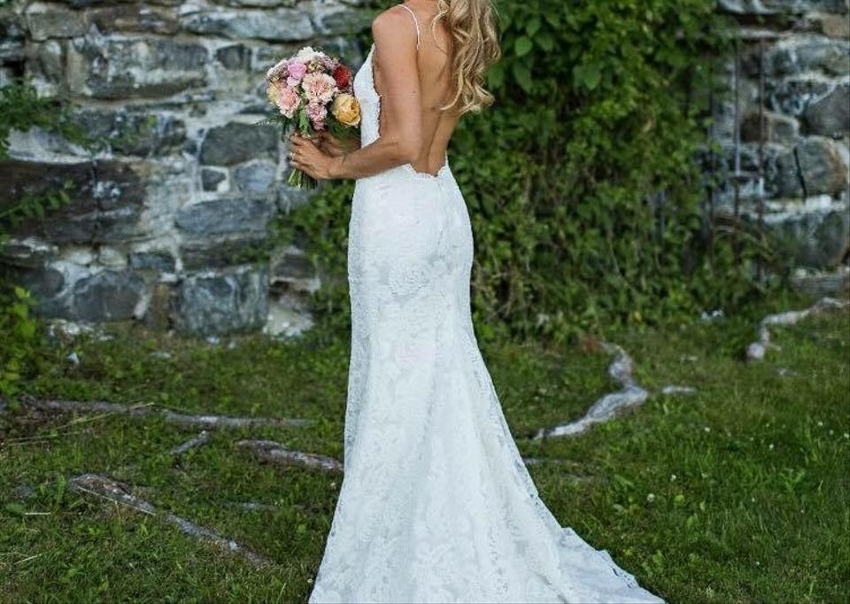 French Lace Wedding Gown: Katie May Ivory French Lace Lanai Destination Wedding