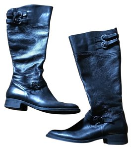 ALDO Riding Zip Black Leather Boots