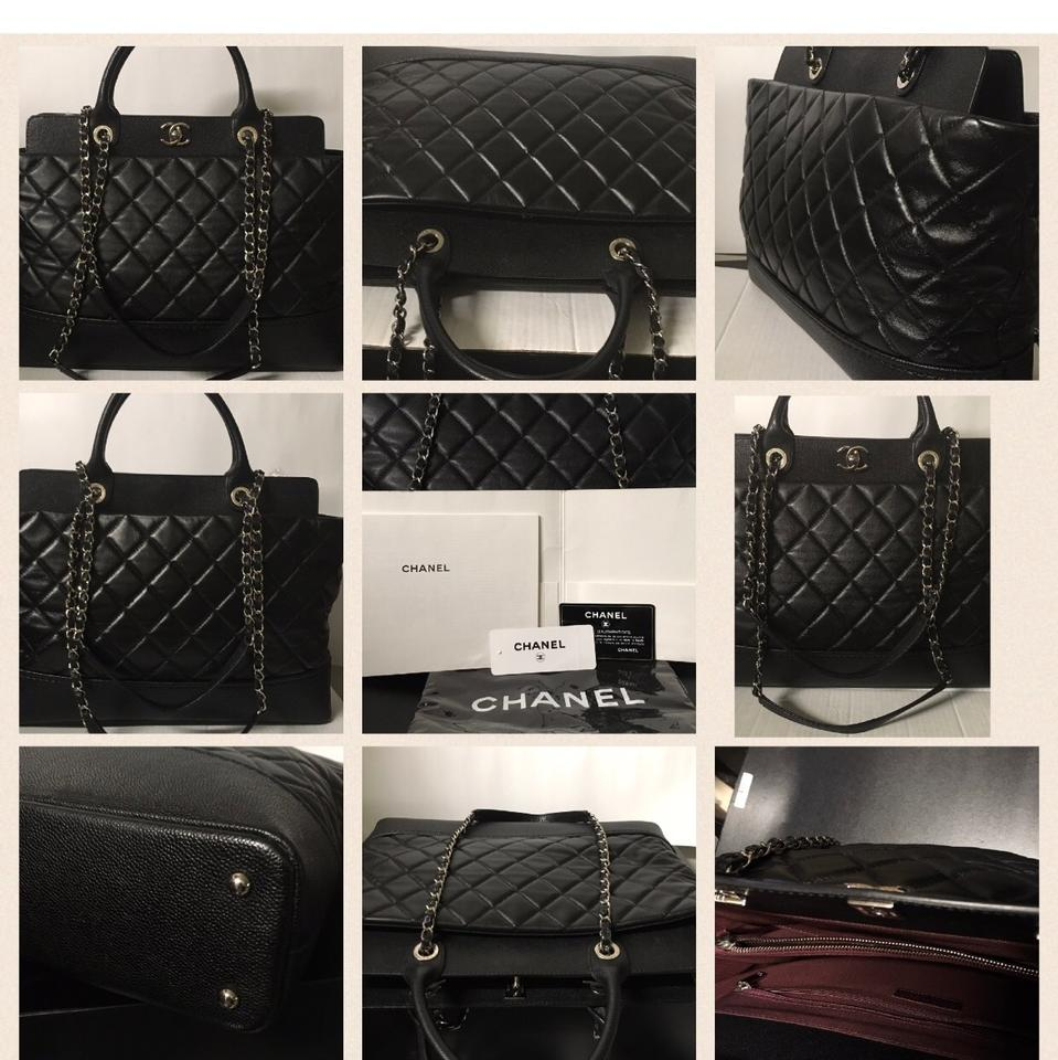 Chanel 2Way Jumbo Mademoiselle CC Quilted Shopping Tote Bag Tote in black  ... 28786b7451587