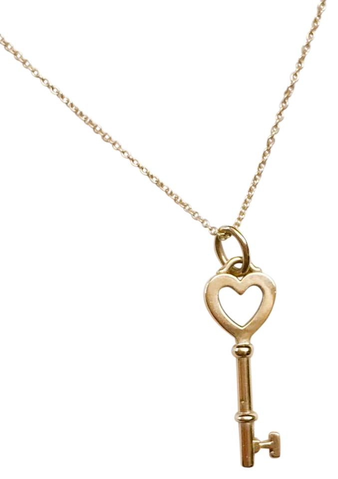 Tiffany co 18k gold yellow heart key pendant necklace tradesy 18k yellow gold heart key pendant necklace mozeypictures Images