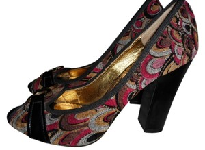Naughty Monkey BLACK MULTI Pumps