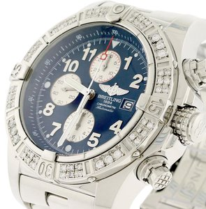 Breitling Breitling Super Avenger Chronograph 48MM Watch A13370 w/Diamond Bezel