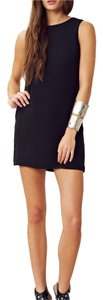 Naven short dress Black Shift Mini Exposed-zip on Tradesy