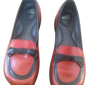 Dansko Red with black trimming Flats