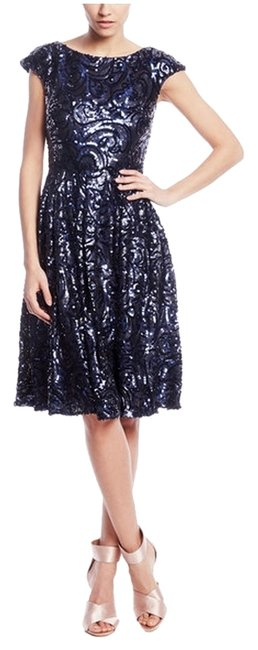 Preload https://item1.tradesy.com/images/badgley-mischka-sapphire-sequin-with-tags-knee-length-cocktail-dress-size-4-s-2193580-0-0.jpg?width=400&height=650