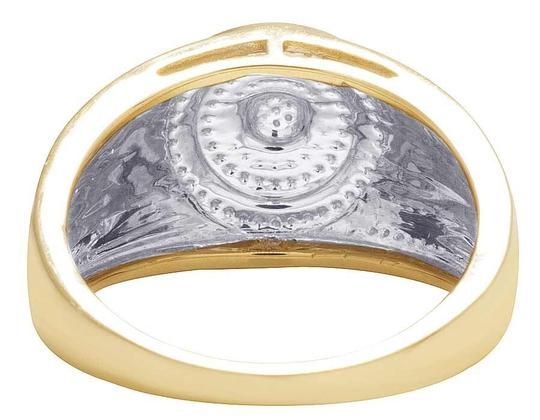 Jewelry Unlimited Men's 10K Yellow Gold Diamond Round Pinky Ring 0.31 Ct 13MM Image 3