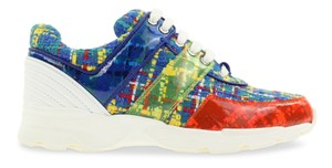 Chanel Tweed Trainer Sneaker Runner Logo multicolored Athletic