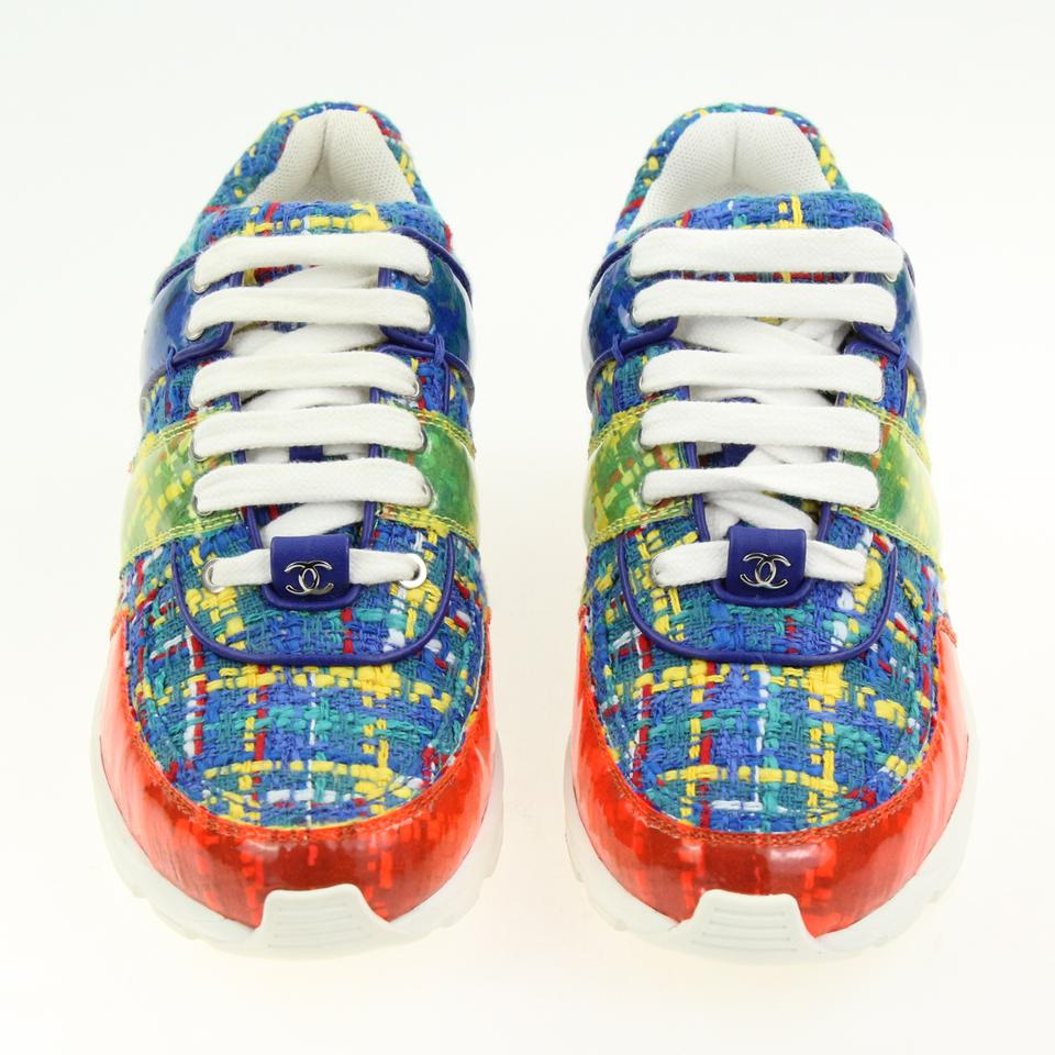 87c776d3074 Chanel Multicolored Tweed and Pvc Sneakers Size EU 35 (Approx. US 5 ...