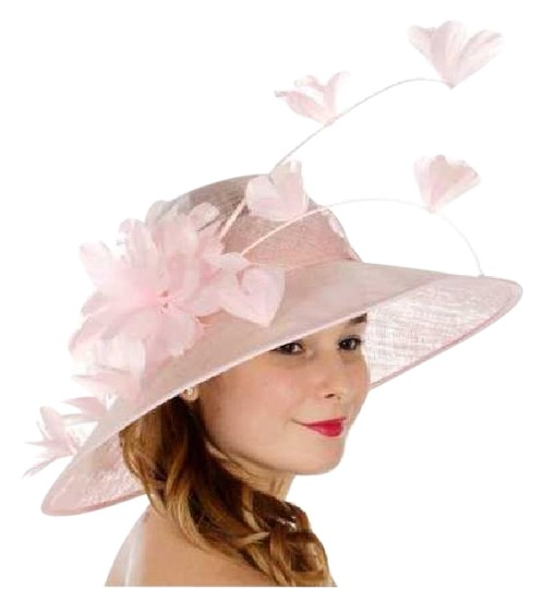 Preload https://img-static.tradesy.com/item/21936078/pink-new-formal-flower-sinamay-dressy-church-hat-0-1-540-540.jpg