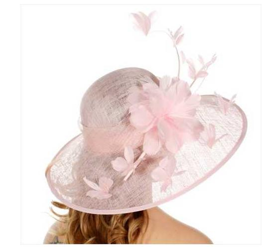 kentucky derby hat New Formal Flower Sinamay Hat Kentucky Derby Dressy Church Image 3