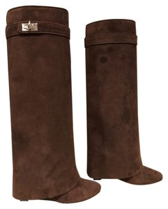 Givenchy Shark Lock Wedge brown Boots