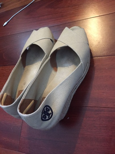 Tory Burch Beige Wedges Image 1