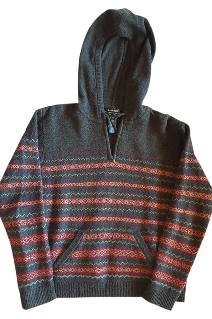 Item - Soft Wool Hoodie with Front Pocket Olive Sweater