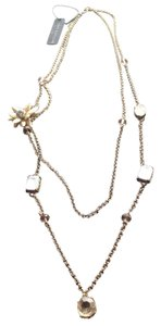 Ann Taylor Gold Flower & Stone Necklace