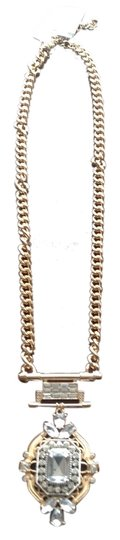 Cära Couture Jewelry Gold Link Necklace With Aztec Brooch Diamonds