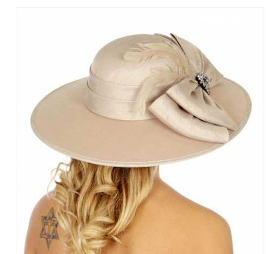 kentucky derby hat New Bow Feathers Wide Brim Hat formal hat church hat wedding hat Image 2