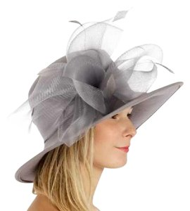 kentucky derby hat New Wool hat with netted feathered bow Formal church Hat