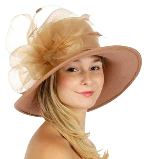 Preload https://img-static.tradesy.com/item/21936430/camal-new-wool-with-netted-feathered-bow-formal-church-hat-0-1-540-540.jpg