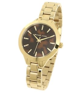 Michael Kors MICHAEL KORS MK3535 Lady's watch watch gold / brown