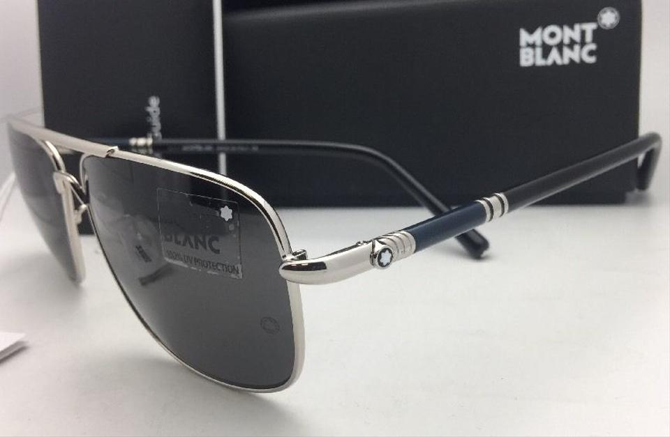 4d053abed1d Montblanc New MONTBLANC Sunglasses MB 508T 16A 61-14 145 Silver Aviator  Frame w . 123456789101112
